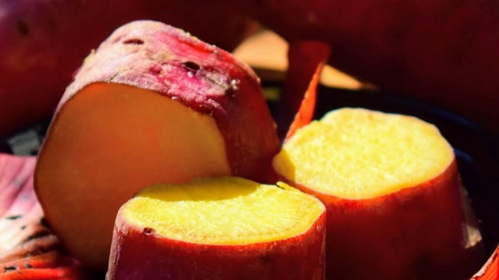 にじいろジーンの紅芋ソテーのミルフィーユレシピ
