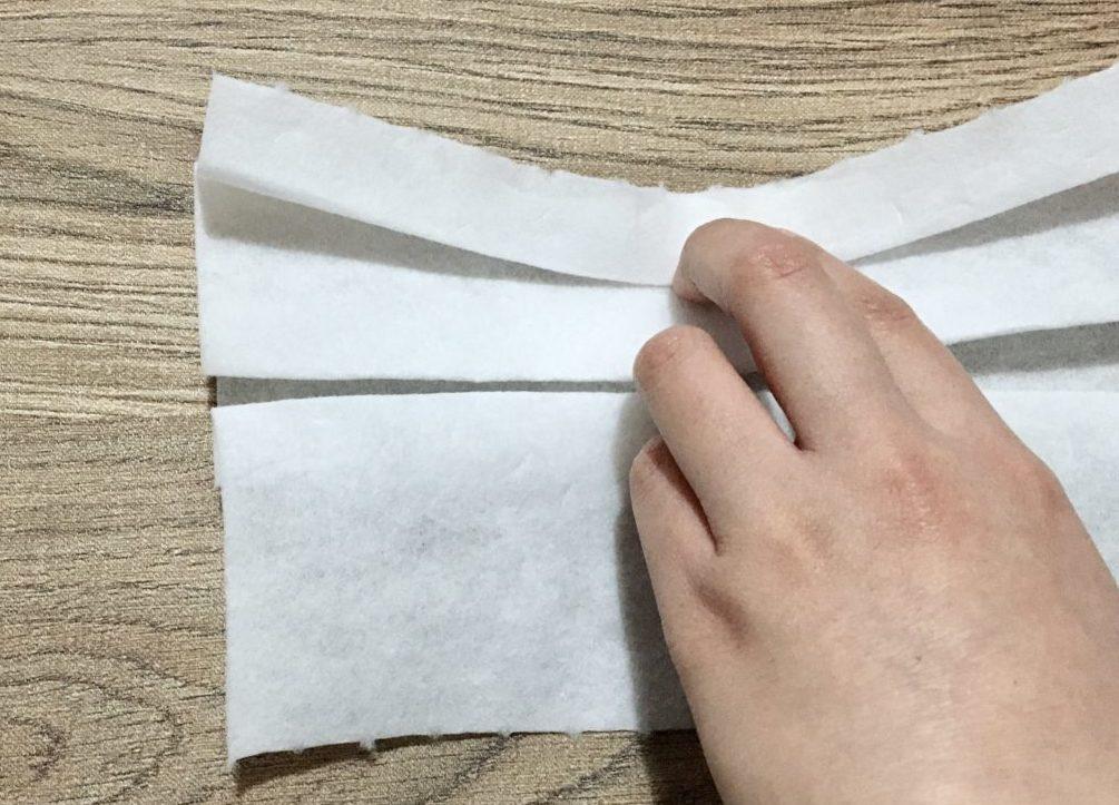 手作りマスクの作り方(工程1-4)