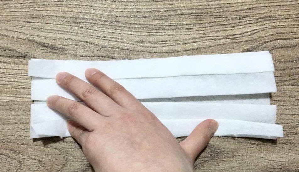 手作りマスクの作り方(工程1-5)