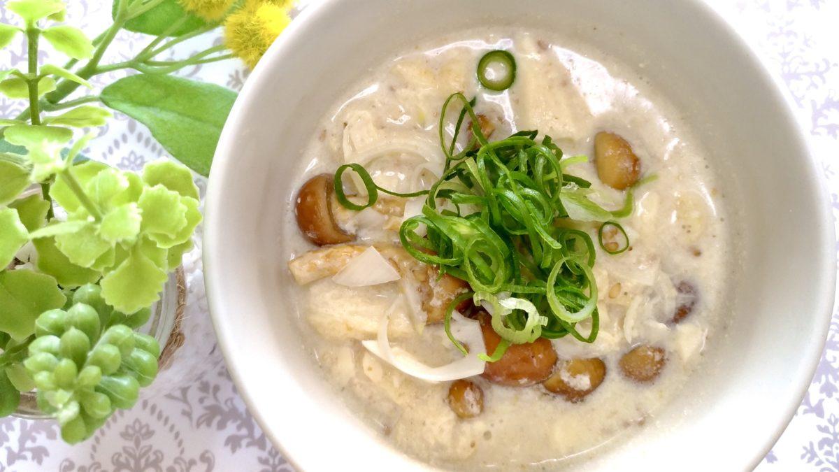 スッキリのAtsushiの豆腐と豆乳のレンチン美腸スープレシピ