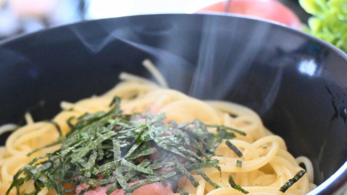 あさイチののりバタパスタのレシピ