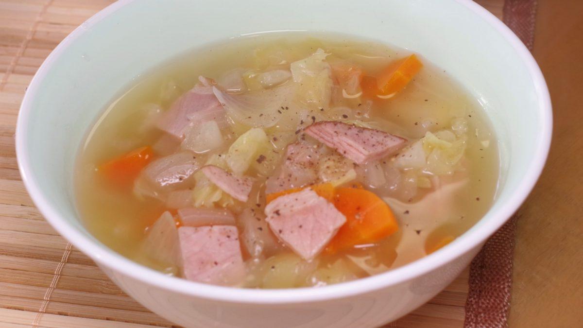 沸騰ワードの志麻さんの生ハムと野菜のスープレシピ