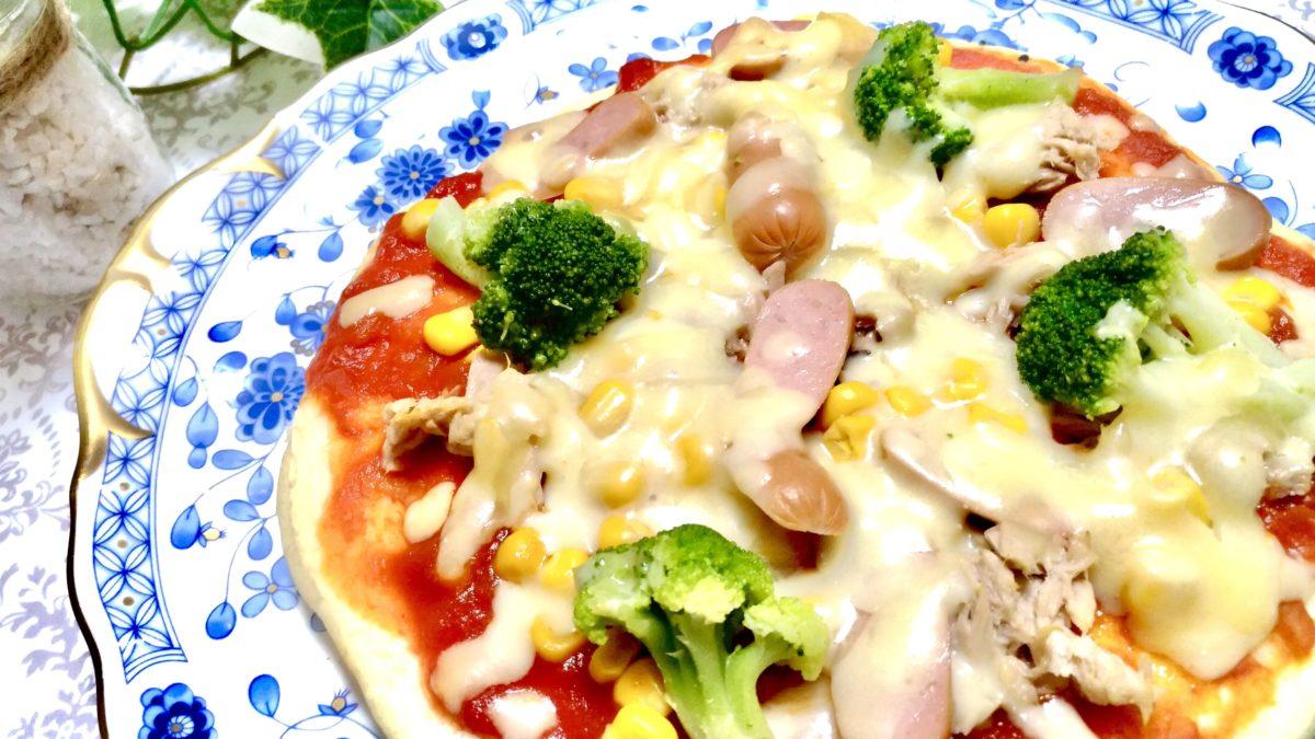 スッキリのワンパンピザのレシピ