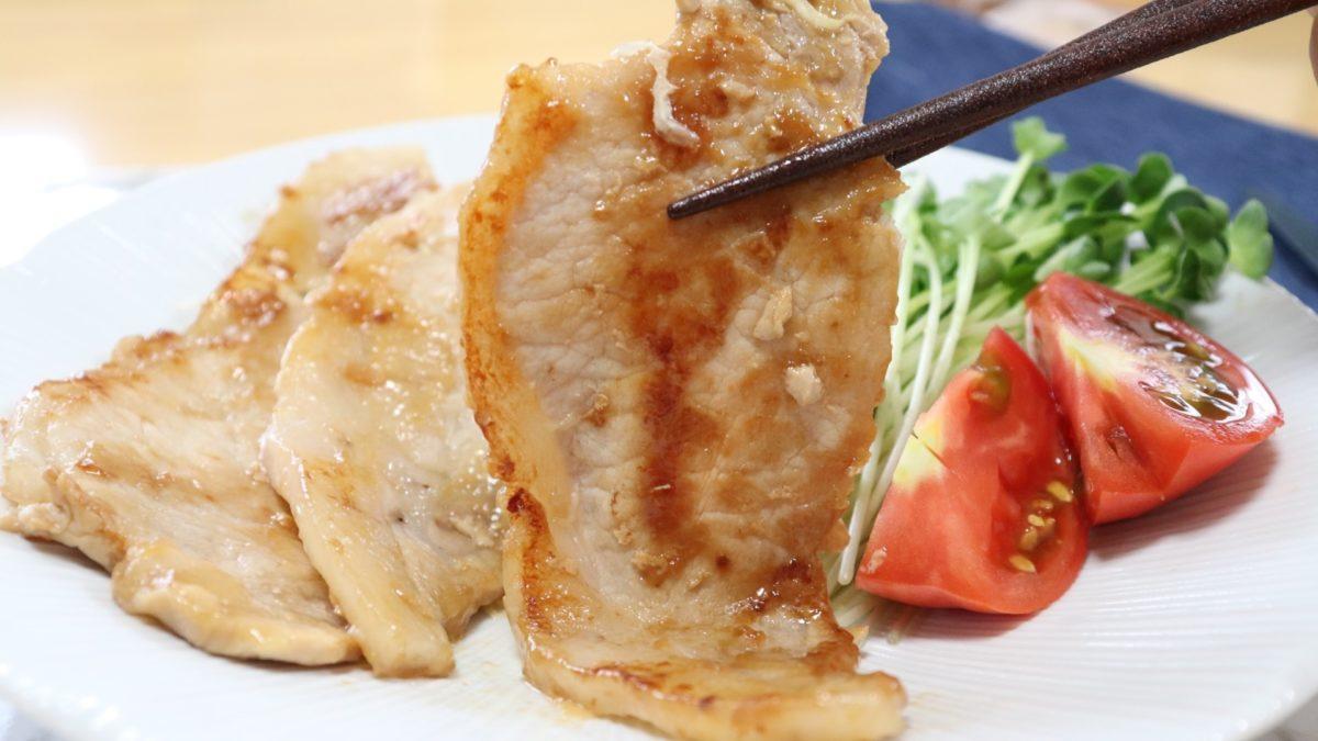 めんつゆで作る豚の生姜焼きレシピ