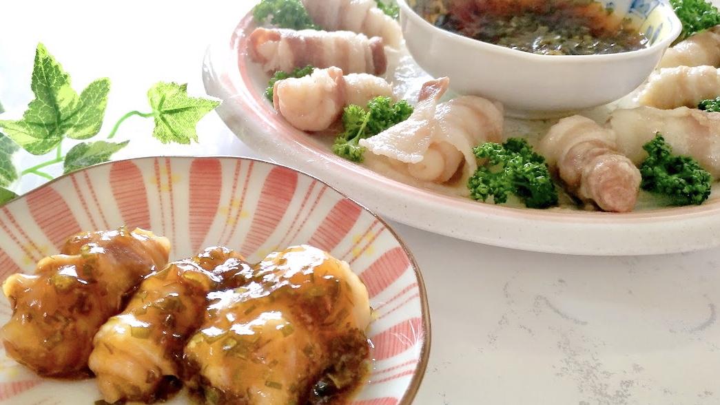 モニタリングのくるくる角煮レシピ