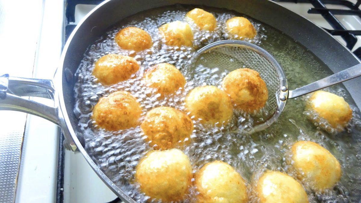 切り餅ドーナツの作り方(工程4)