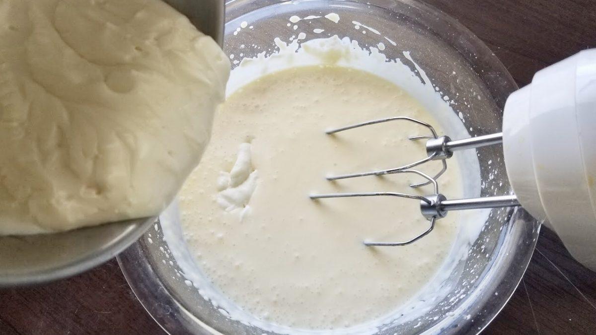 チーズケーキの作り方(工程6)