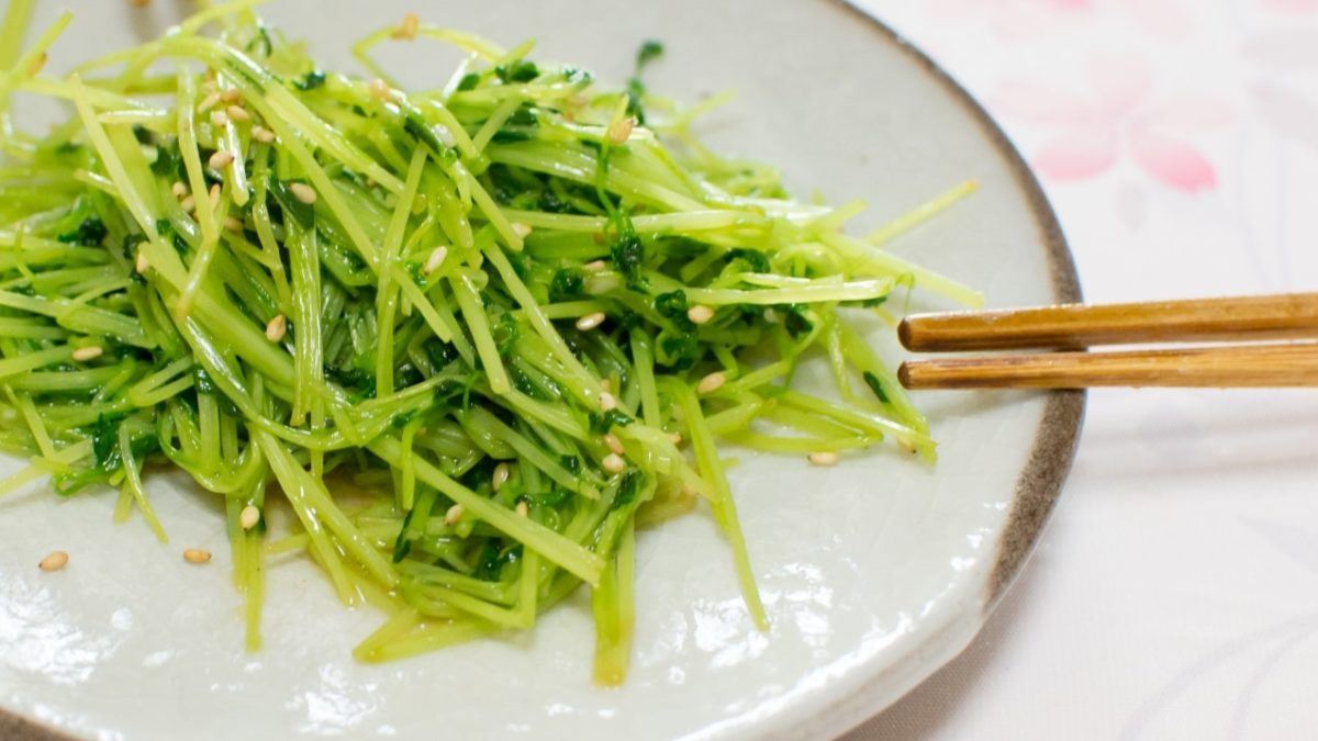 サタデープラスの豆苗炒めレシピ