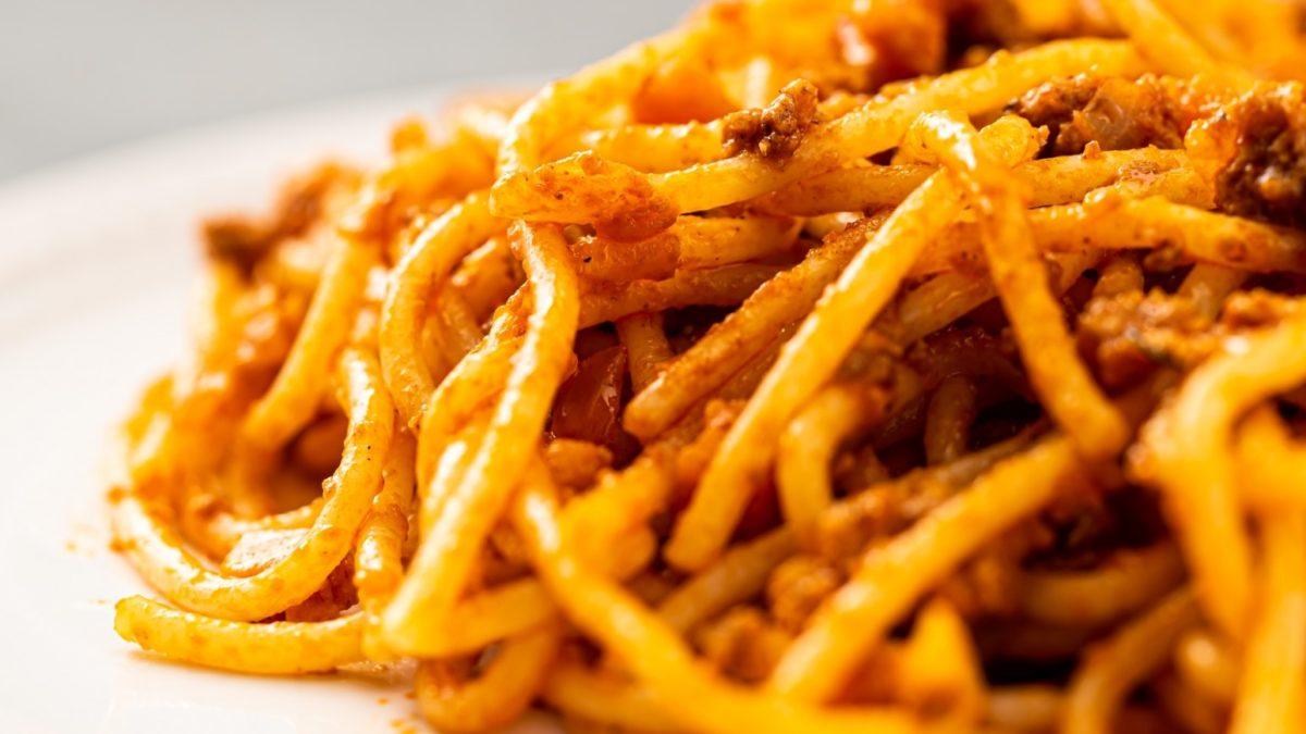 サタプラの炊飯器でボロネーゼパスタレシピ