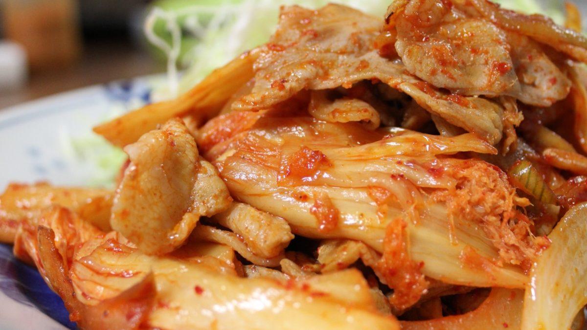 ソレダメの豚キムチの格上げレシピ