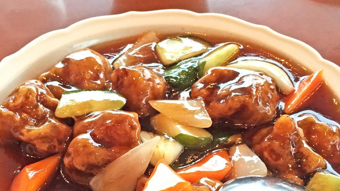 あさイチのなすとズッキーニの酢豚風レシピ