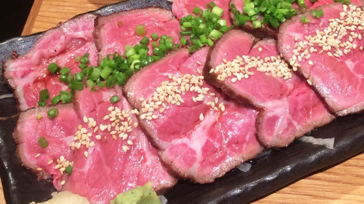 土曜は何するのレンチン牛肉のたたきレシピ