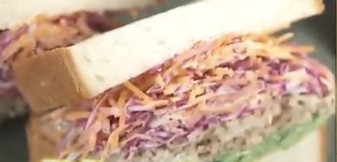 吉野家の牛丼でサンドイッチレシピ