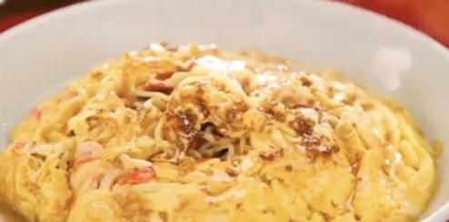 簡単焼きそば天津麺レシピ