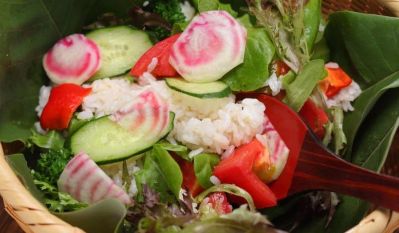 夏野菜のサラダ寿司レシピ