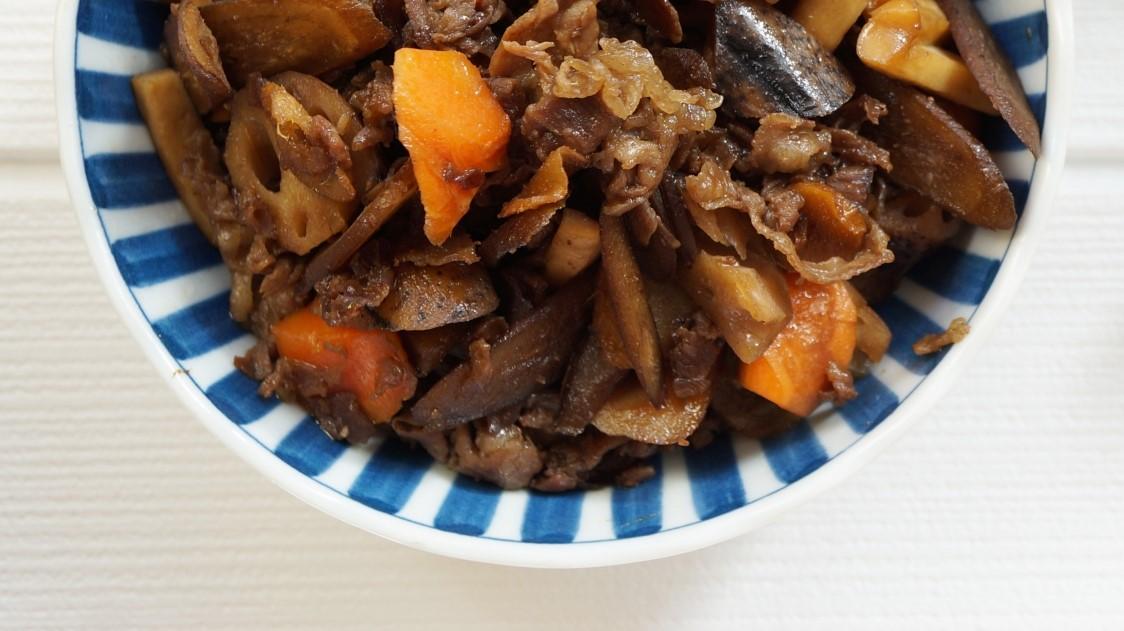 あさイチの牛肉とごぼうの甘辛煮