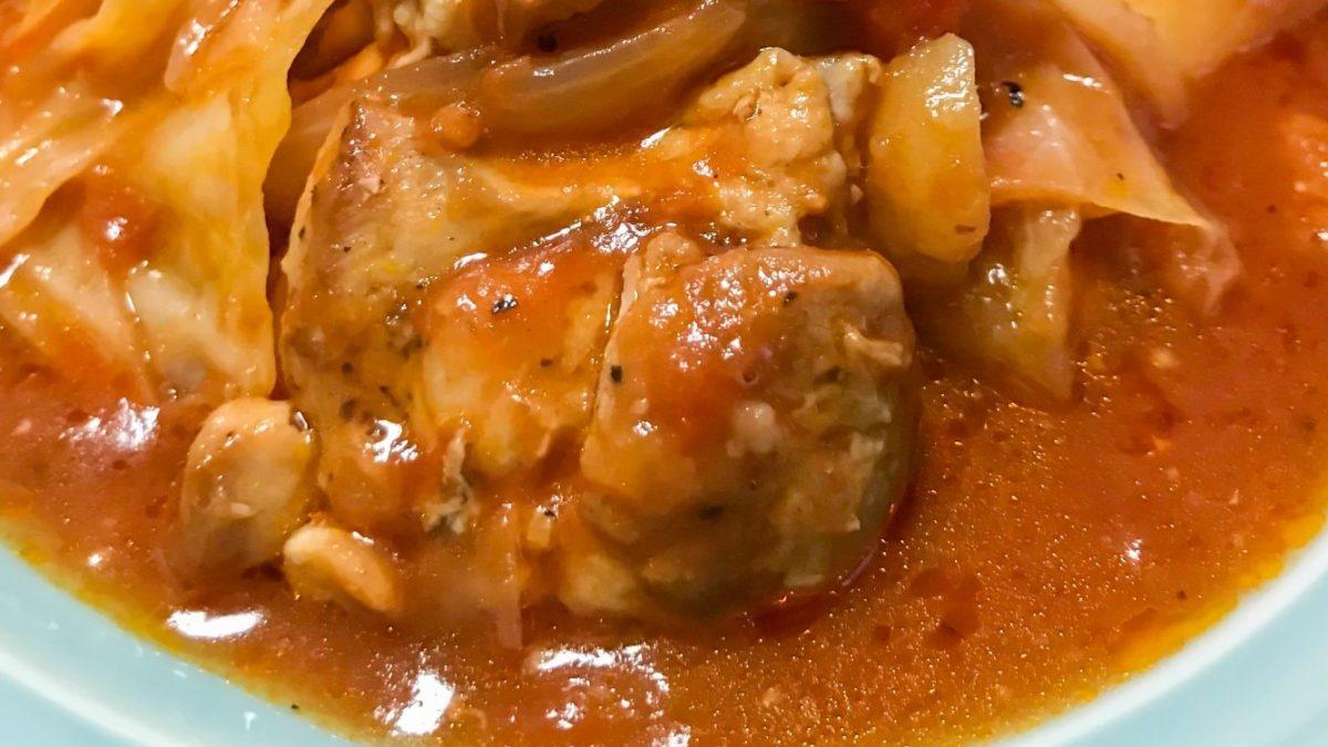 トマト 煮 チキン