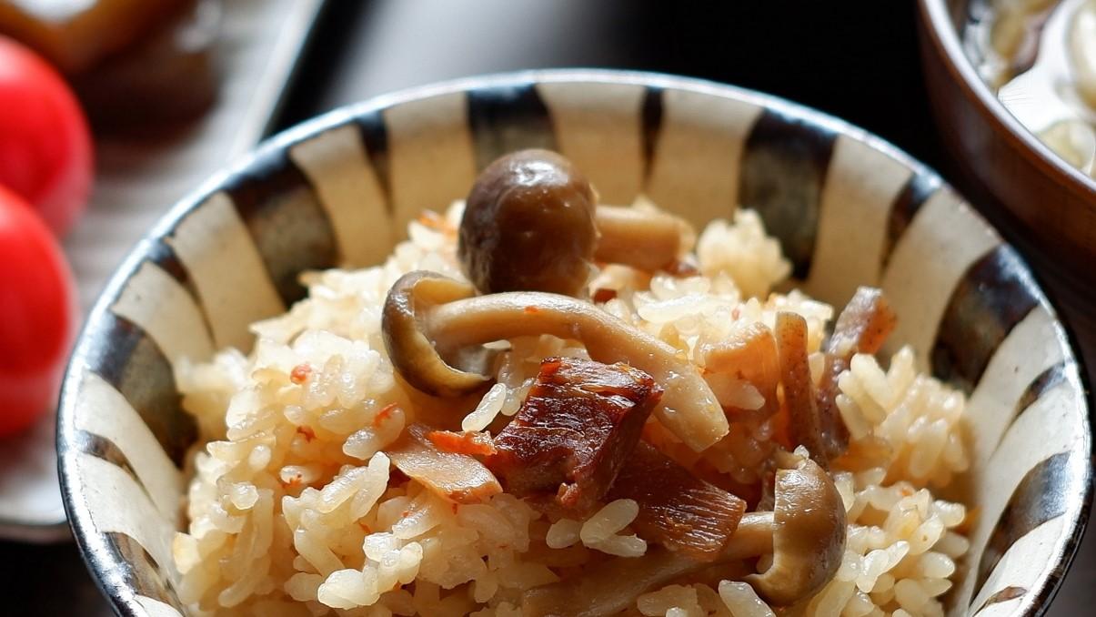 ソレダメのきのこの炊き込みご飯レシピ