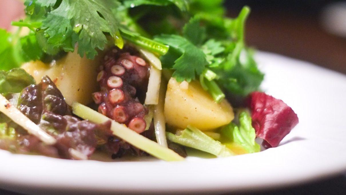 あさイチの春菊とタコのサラダレシピ