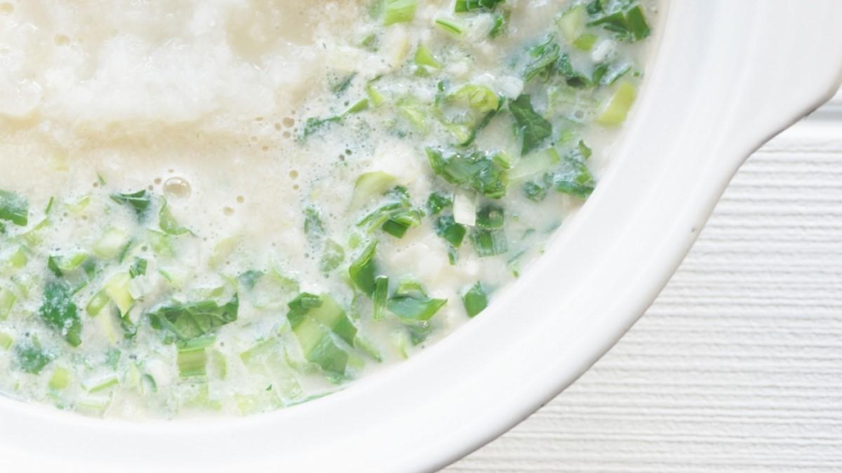 スッキリのツナと小松菜のクリーミー梅チーズ美腸スープ