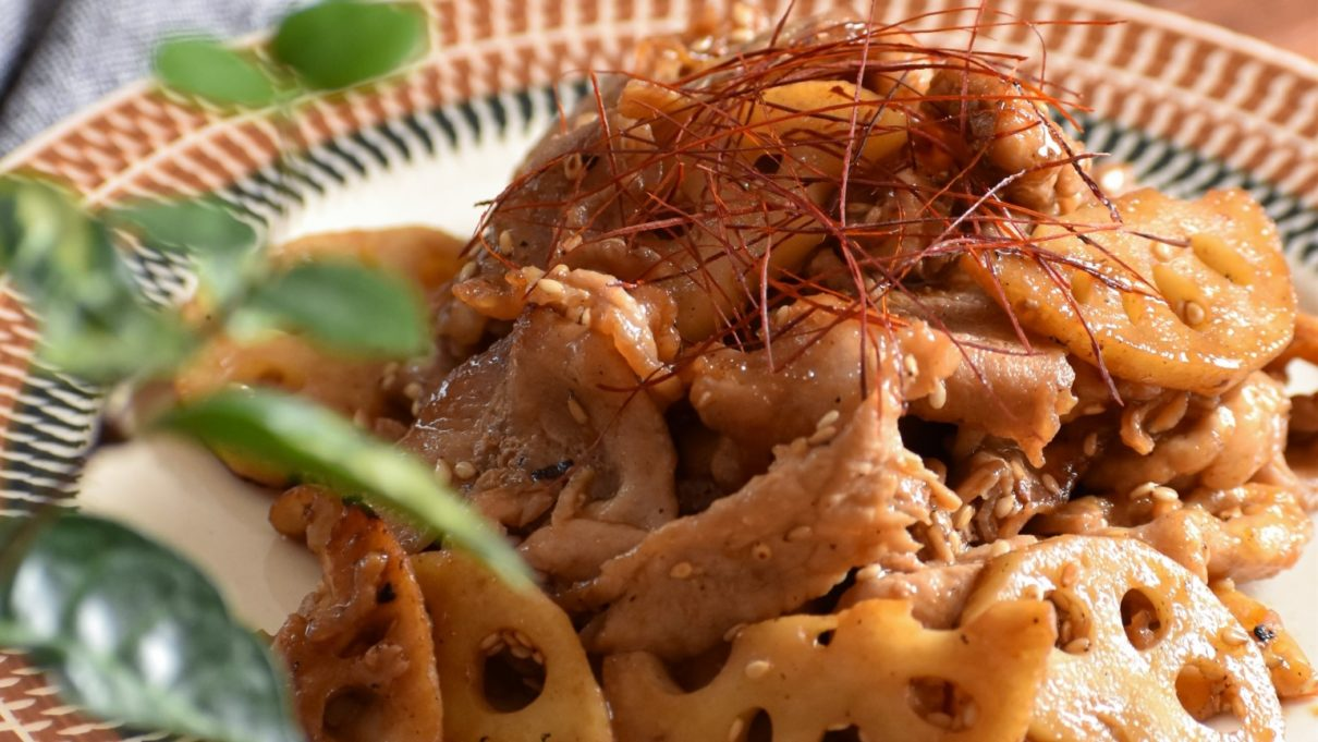あさイチのれんこんと豚バラの重ね蒸しレシピ