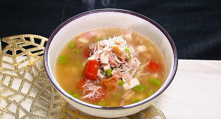 スッキリのしらすと豆腐の美腸スープ