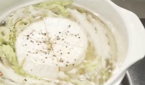 カマンベールチーズミルフィーユ鍋