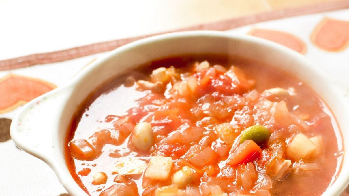 王様のブランチのトマトジュースのしらスープ
