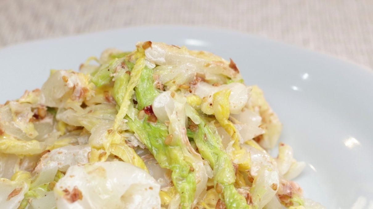 ソレダメの白菜のちぎり和えレシピ