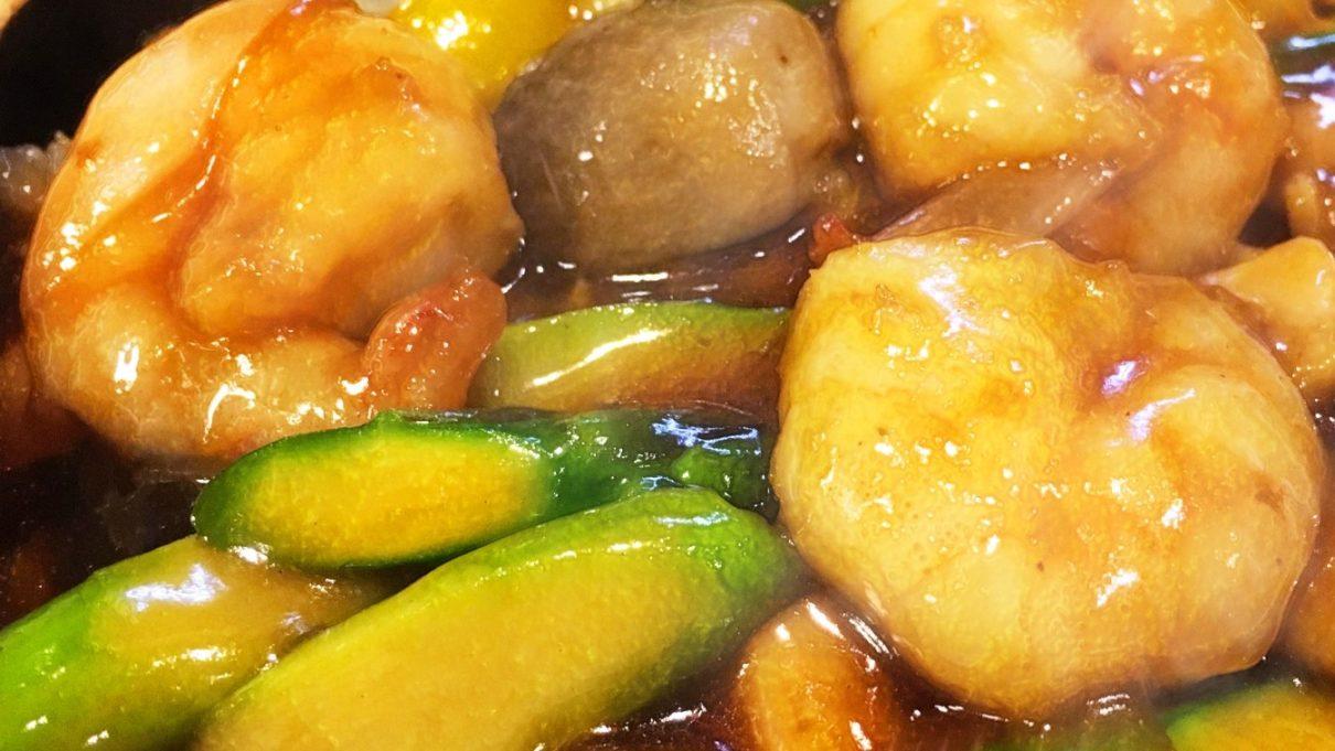 ウワサのお客さまのエビとアスパラのガーリック炒めレシピ