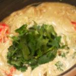 えびとアボカドのグリーンカレー鍋のシメ