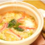 鶏と野菜のかにかま鍋のシメ