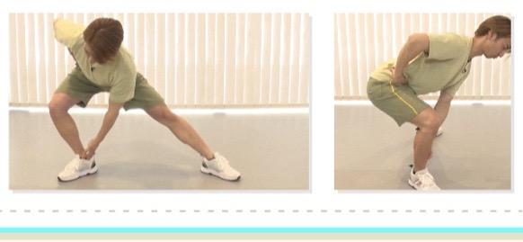 立ち筋トレ(ヒールタッチランジ)のやり方2